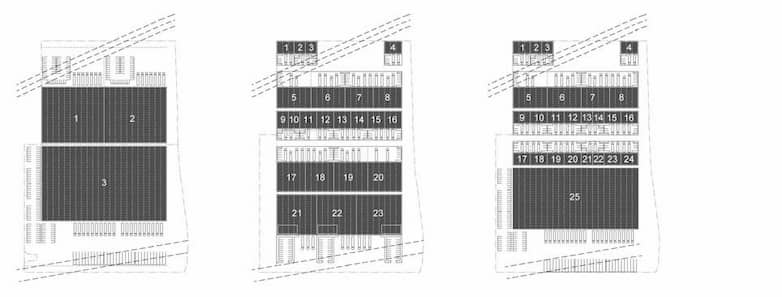 Architectural plans shwoing plot 10 + 11 development options.