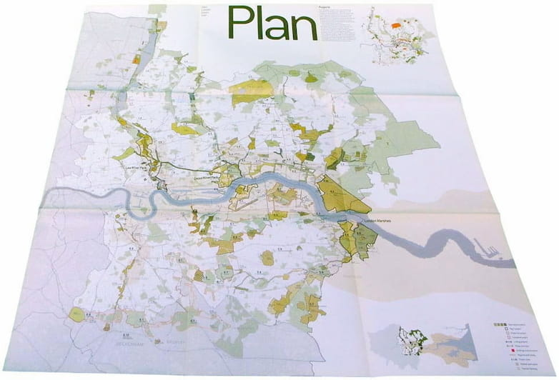 The All Projects Plan shows how individual sites fit into a broader map, centering on the river Thames and its tributaries.