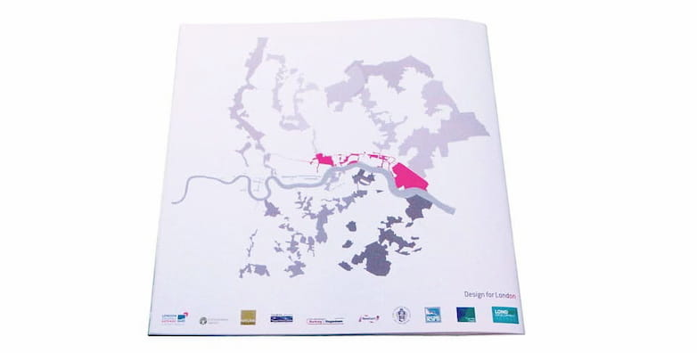 London Riverside published framework, back cover with map highlighting area 4.