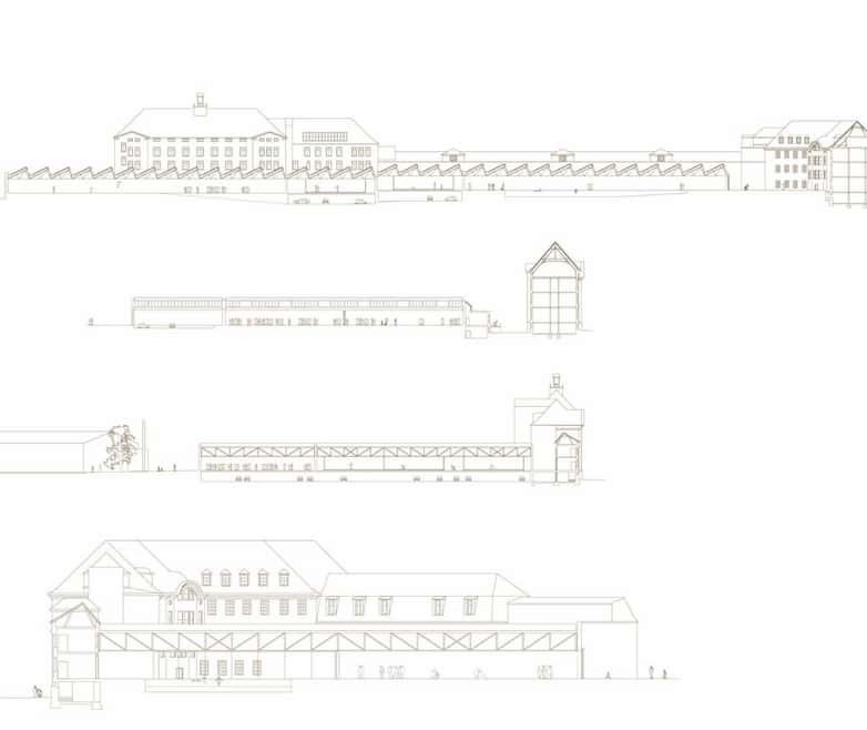 Architectural sections of competition proposal.